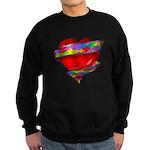 Red Heart w/ Ribbon Sweatshirt (dark)
