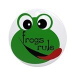 Frogs Rule Ornament (Round)