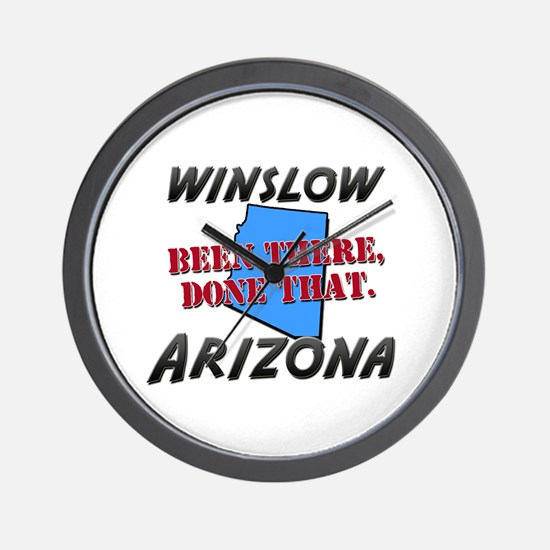 winslow arizona - been there, done that Wall Clock