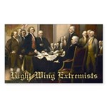 Right-Wing Extremists Rectangle Sticker 50 pk)