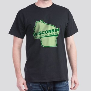 wisconsin - smell our dairy air Dark T-Shirt