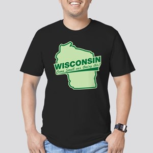 wisconsin - smell our dairy air Men's Fitted T-Shi