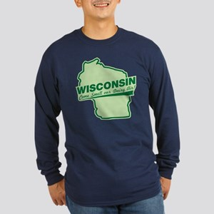 wisconsin - smell our dairy air Long Sleeve Dark T