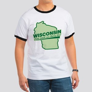 wisconsin - smell our dairy air Ringer T