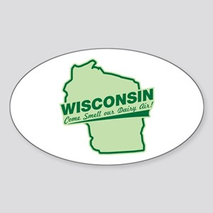 wisconsin - smell our dairy air Oval Sticker