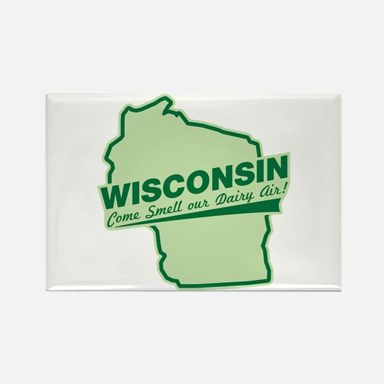 wisconsin - smell our dairy air Rectangle Magnet