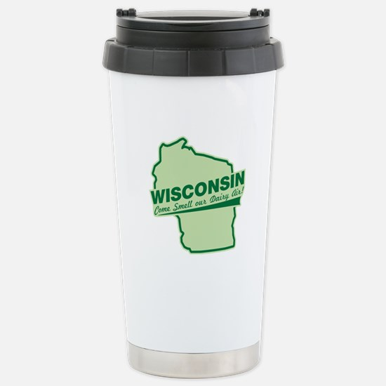 wisconsin - smell our dairy air Stainless Steel Tr
