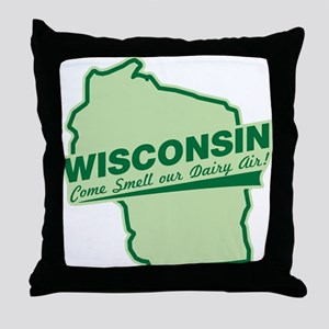 wisconsin - smell our dairy air Throw Pillow