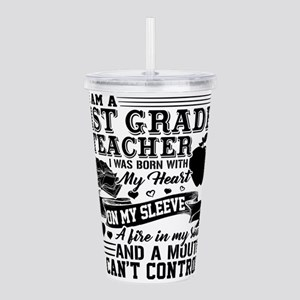 1st Grade Teacher Acrylic Double-wall Tumbler