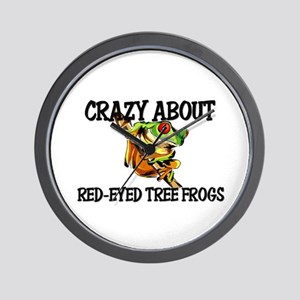 Crazy About Red-Eyed Tree Frogs Wall Clock