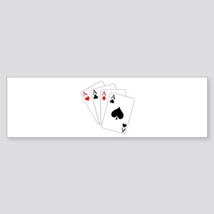 4 Aces! Bumper Sticker