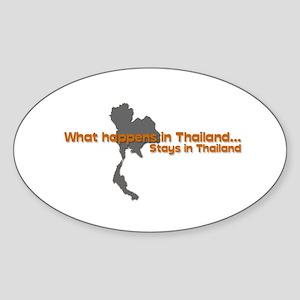 Thailand Oval Sticker