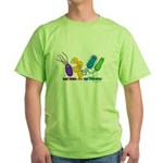Bacteria are My Friends Green T-Shirt