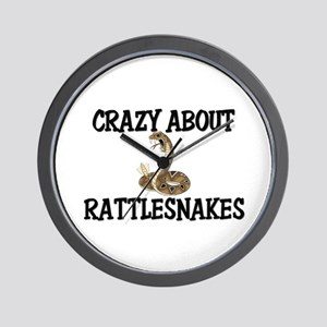 Crazy About Rattlesnakes Wall Clock