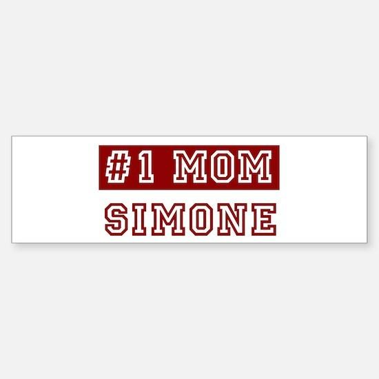 Simone #1 Mom Bumper Bumper Bumper Sticker