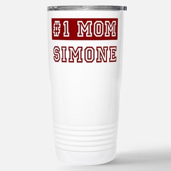 Simone #1 Mom Stainless Steel Travel Mug
