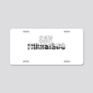 SanFrancisco Aluminum License Plate