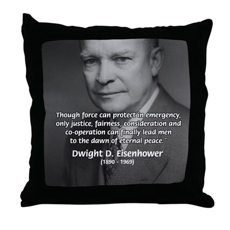 Peace and Justice Eisenhower Throw Pillow