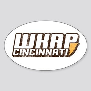 wkrp in cincinnati Oval Sticker