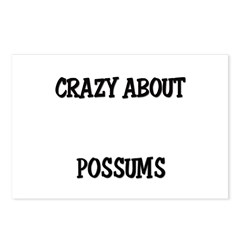 Crazy About Possums Postcards (Package of 8)