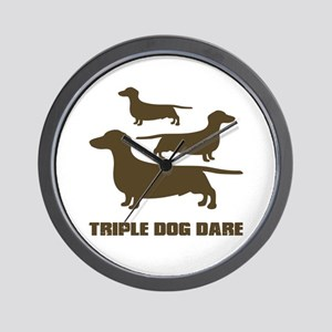 triple dog dare christmas story Wall Clock