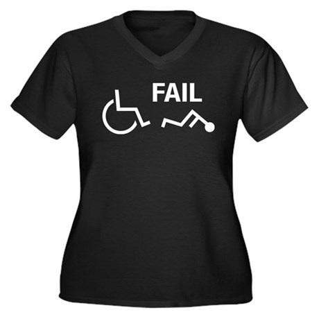 handicapped fail wheelchair funny Women's Plus Siz