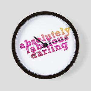 Absolutely Fabulous Darling Wall Clock