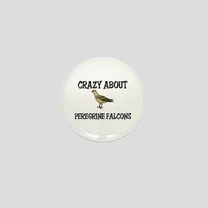 Crazy About Peregrine Falcons Mini Button