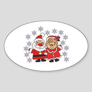 Santa and Mrs. Claus Sticker
