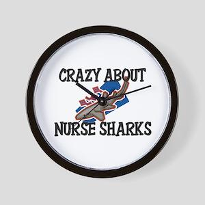 Crazy About Nurse Sharks Wall Clock