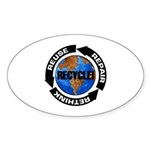 Recycle World Sticker (Oval 50 pk)