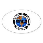 Recycle World Sticker (Oval 50 pk)