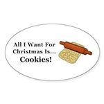 Christmas Cookies Sticker (Oval 50 pk)