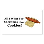 Christmas Cookies Sticker (Rectangle 10 pk)