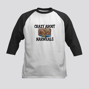 Crazy About Narwhals Kids Baseball Jersey
