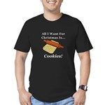 Christmas Cookies Men's Fitted T-Shirt (dark)