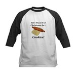 Christmas Cookies Kids Baseball Tee