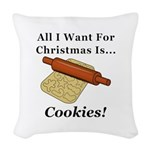 Christmas Cookies Woven Throw Pillow
