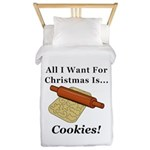 Christmas Cookies Twin Duvet Cover
