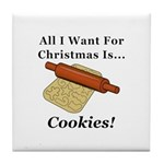 Christmas Cookies Tile Coaster