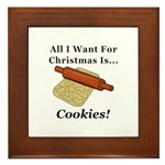 Christmas Cookies Framed Tile