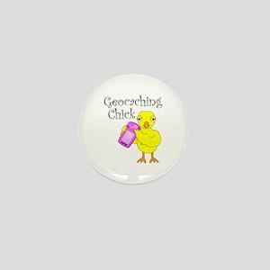 Geocaching Chick Mini Button