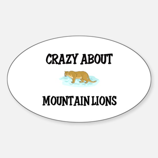 Crazy About Mountain Lions Oval Decal