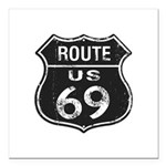 Route 69 Square Car Magnet 3
