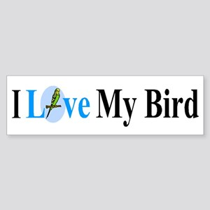 I Love My Bird Bumper Sticker