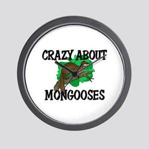 Crazy About Mongooses Wall Clock