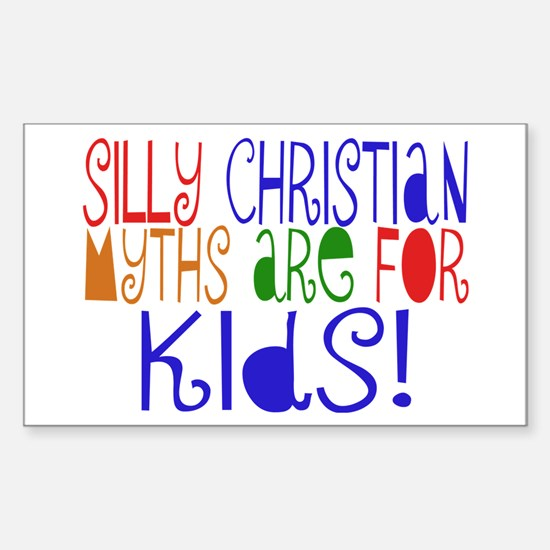 Silly Christians Rectangle Decal