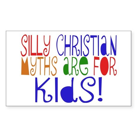 Silly Christians Rectangle Sticker