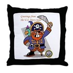 Pirates v. Seals Throw Pillow