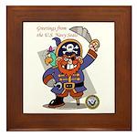 Pirates v. Seals Framed Tile